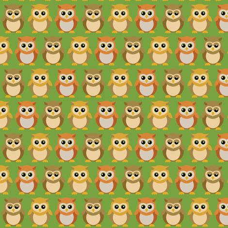 (Small) Baby Owl Friends fabric by greencouchstudio on Spoonflower - custom fabric