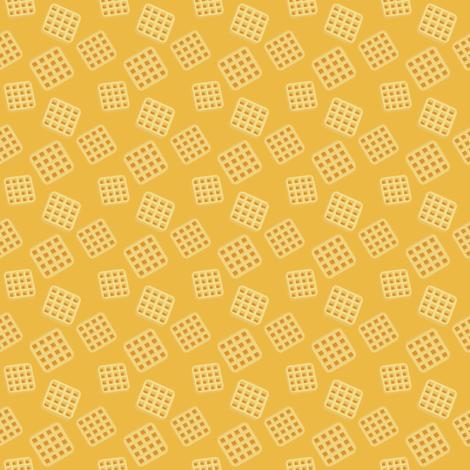 (Small) Breakfast Waffles fabric by greencouchstudio on Spoonflower - custom fabric