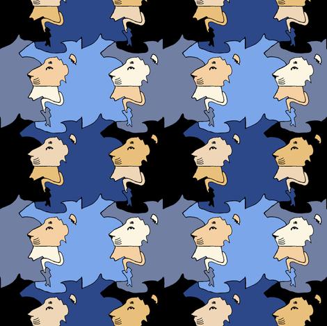 Lion Plaid fabric by pond_ripple on Spoonflower - custom fabric