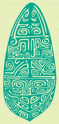 Polynesian, turquois