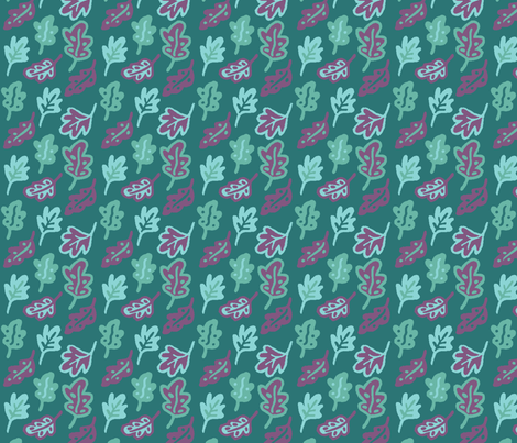 Colortest-Leaves-4in-4colors fabric by mina on Spoonflower - custom fabric