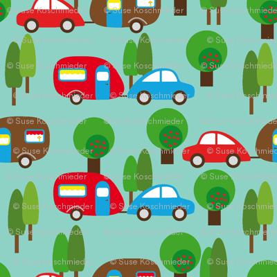 Caravan and Trees lighter