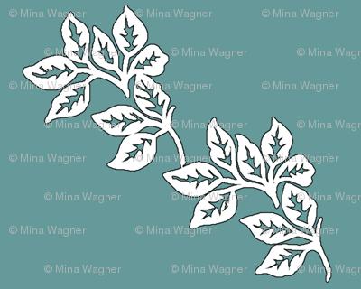 Diagonal-Leaves-outline-6in-TEAL