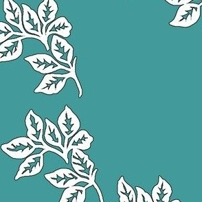 Diagonal-Leaves-outline-6in-TEAL