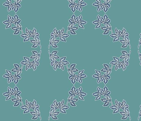 Diagonal-leaves-white-outline-6in-bluetexture-teal_shop_preview
