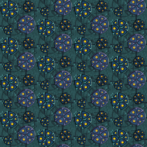 ©2011 Triple Widget fabric by glimmericks on Spoonflower - custom fabric