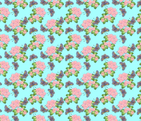 ©2011 Cherry Blossom and Butterflies fabric by glimmericks on Spoonflower - custom fabric
