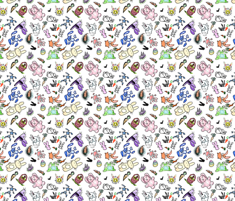 bunny fabric by whimzygirl on Spoonflower - custom fabric