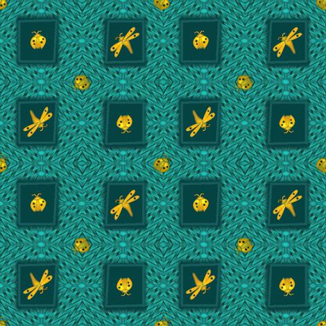 ©2011 Gold Bugs fabric by glimmericks on Spoonflower - custom fabric
