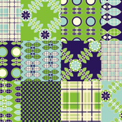 Patchwork in Blue and Green