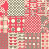 Patchwork in Pink and Grey