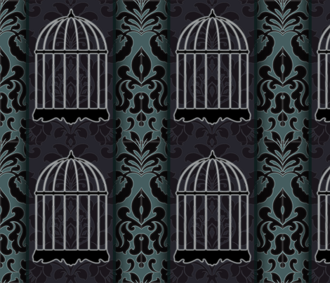 GhostcageDamask fabric by haplesschyld on Spoonflower - custom fabric