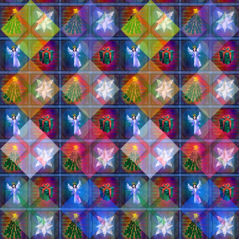 ©2011 Holidaze fabric by glimmericks on Spoonflower - custom fabric