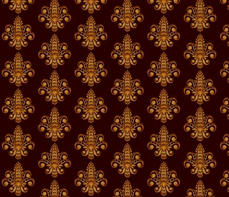 ©2011 Fleur de Lis - Brun fabric by glimmericks on Spoonflower - custom fabric
