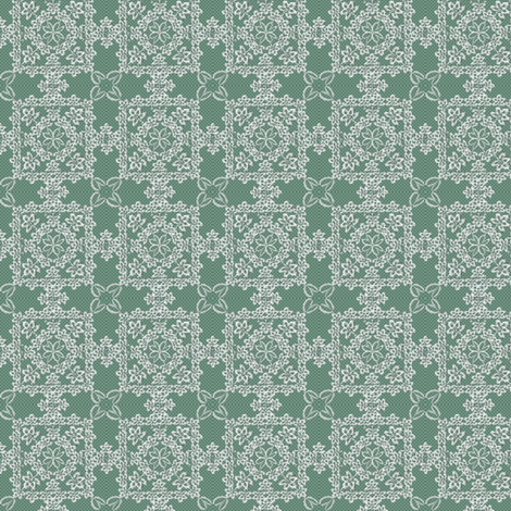©2011 Irish Lace green fabric by glimmericks on Spoonflower - custom fabric