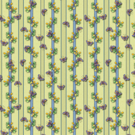 ©2011 Garland, Ribbons and Butterflies fabric by glimmericks on Spoonflower - custom fabric