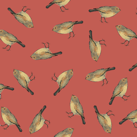 Sparrow fabric by jenlo on Spoonflower - custom fabric