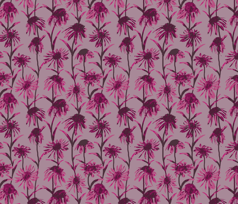 Pink  Flowers fabric by coloroncloth on Spoonflower - custom fabric