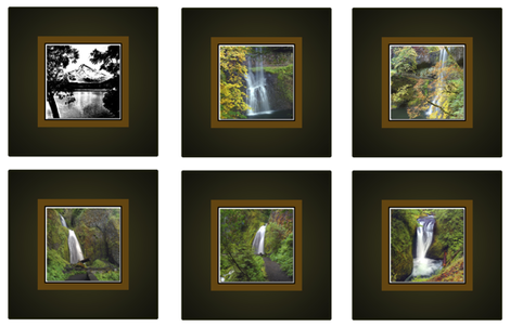Six 14 inch Photographic Waterfall Pillow Cover Designs per  Yard fabric by cafe_projections on Spoonflower - custom fabric