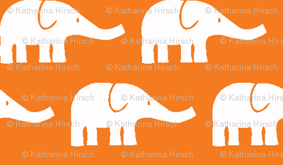 SMALL Elephants in orange