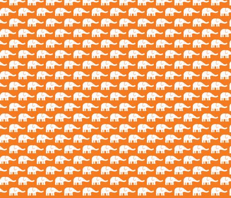 SMALL Elephants in orange fabric by katharinahirsch on Spoonflower - custom fabric
