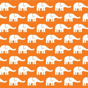 SMALL Elephants in orange