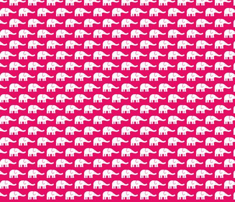 SMALL Elephants hotpink fabric by katharinahirsch on Spoonflower - custom fabric