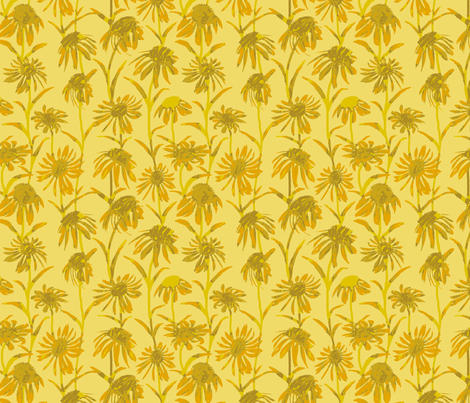 Yellow Flowers fabric by coloroncloth on Spoonflower - custom fabric