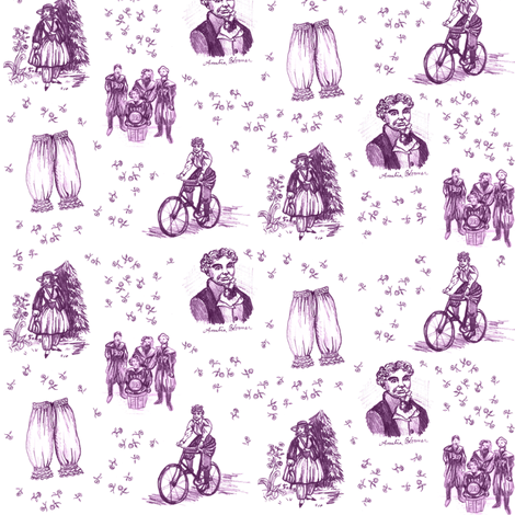 Thank You, Amelia Bloomer! fabric by lulakiti on Spoonflower - custom fabric