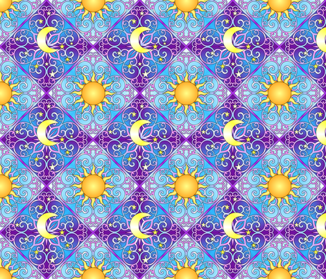 Celestial Dream Set 2 fabric by shala on Spoonflower - custom fabric