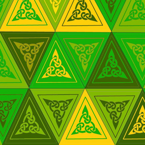 celtic bunting green