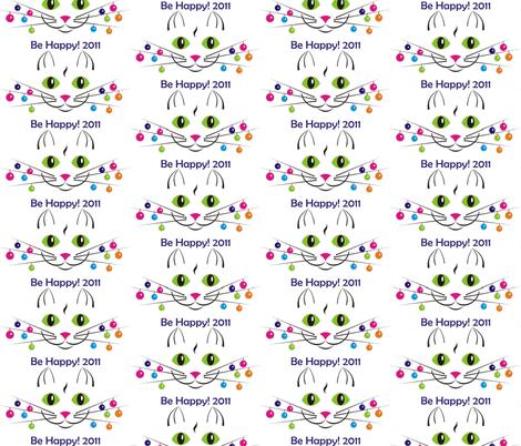 cat_happy_year fabric by andreysoldatenko on Spoonflower - custom fabric