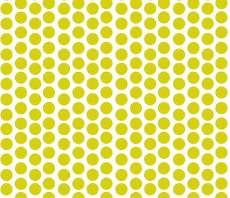 Lime Green Disks fabric by carinaenvoldsenharris on Spoonflower - custom fabric