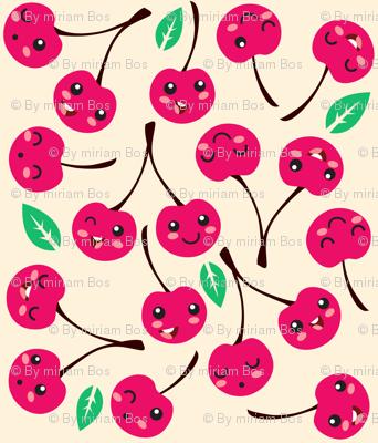 Happy Cherries (white)