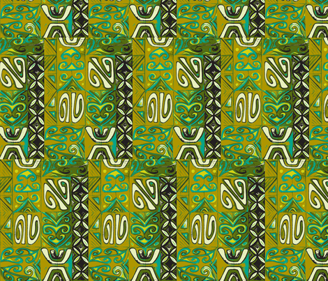 Mod-pa  in olive fabric by sophista-tiki_by_dawn_frasier on Spoonflower - custom fabric