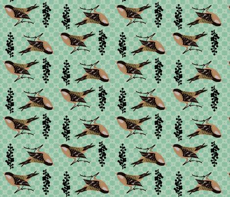 Put a bird on it- Mint fabric by supayana on Spoonflower - custom fabric