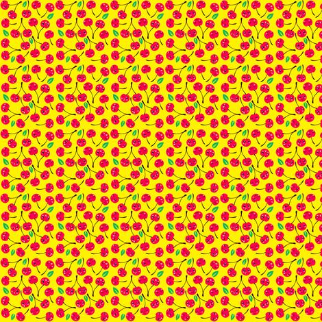 Happy Cherries (red) fabric by irrimiri on Spoonflower - custom fabric