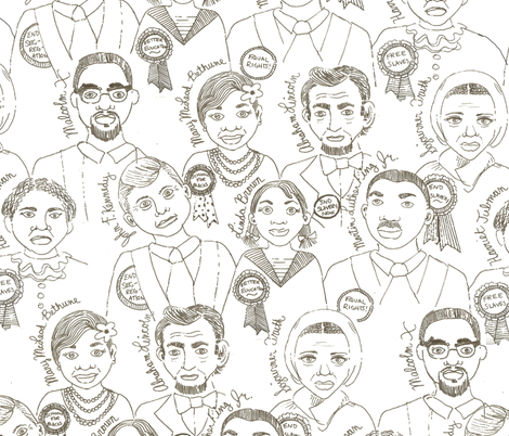 Civil Rights Leaders fabric by asilo on Spoonflower - custom fabric