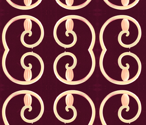 botanical spiral fabric by tequila_diamonds on Spoonflower - custom fabric
