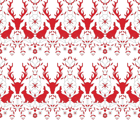 scando_red_deer fabric by holli_zollinger on Spoonflower - custom fabric