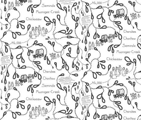 Trail of Tears Large (zoom for details) fabric by victorialasher on Spoonflower - custom fabric