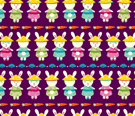 Year Of the Rabbit fabric by abby_zweifel on Spoonflower - custom fabric