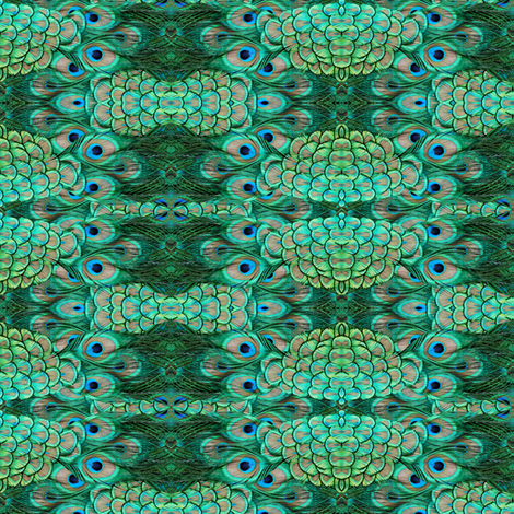 ©2011 peacock fabric by glimmericks on Spoonflower - custom fabric