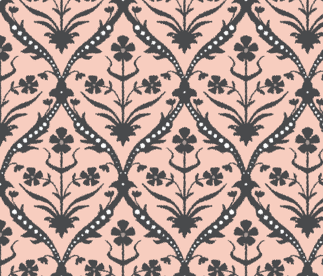 Santha trellis ikat fabric by scrummy on Spoonflower - custom fabric