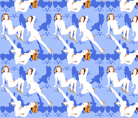 VictoryPinUp fabric by kitten_von_mew on Spoonflower - custom fabric