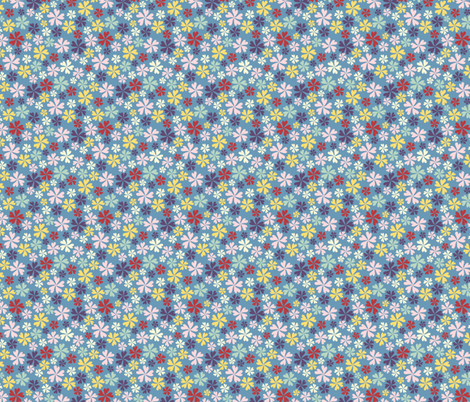 Ditsy Floral fabric by kezia on Spoonflower - custom fabric