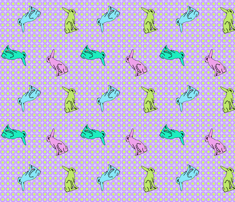 Retrorabbits fabric by findevogel on Spoonflower - custom fabric