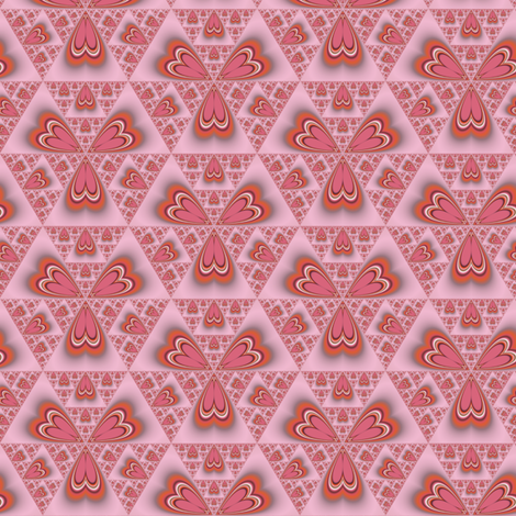 Cinnamon Hearts Abstract © Gingezel™ 2011 fabric by gingezel on Spoonflower - custom fabric
