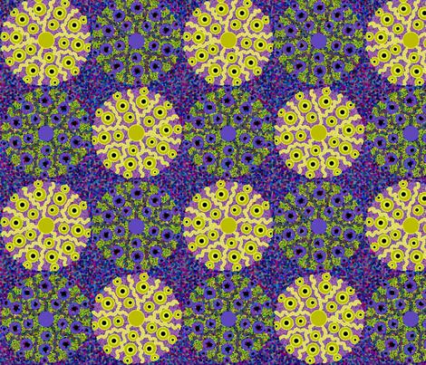 sea_urchins_blue fabric by lfntextiles on Spoonflower - custom fabric
