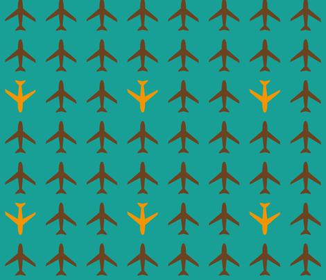 Airplane  fabric by heimatkinder on Spoonflower - custom fabric